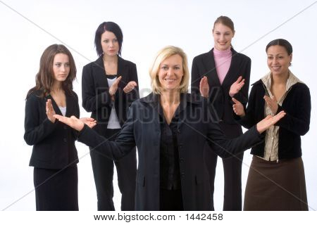 Businesswoman And Colleagues