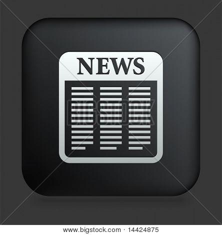 Icono del periódico en Internet cuadrado negro botón ilustración Original