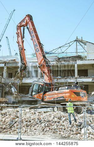 August 2016, Portsmouth, UK, Demolition In Surrey Street