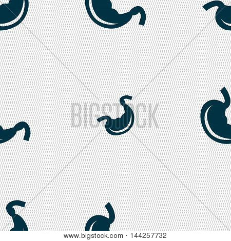 Stomach Sign. Seamless Pattern With Geometric Texture. Vector