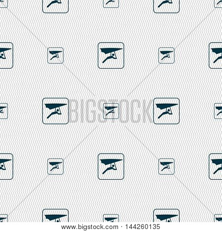Hang-gliding Sign. Seamless Pattern With Geometric Texture. Vector