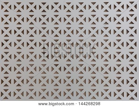 Background gray wooden lattice pattern with triangles