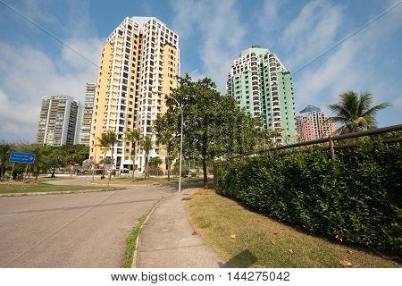 Residential Area in Barra da Tijuca with Tall Apartment Buildings, Rio de Janeiro City
