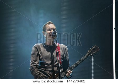 Bontida, Romania - July 14, 2016: Sigur Ros, the Icelandic post-rock band from Reykjavík, performing live on the stage at Electric Castle festival, one of the biggest music festivals in Romania