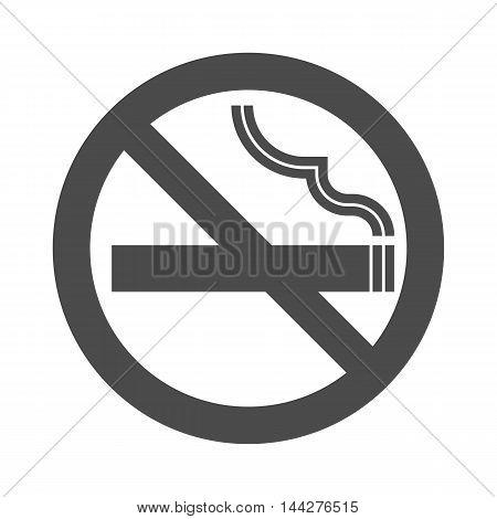 Non smoking area sign symbol, silhouette flat design