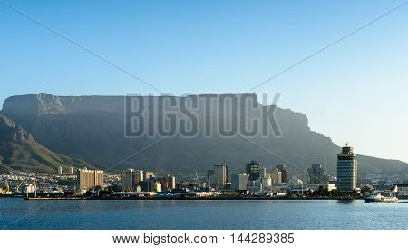 CAPE TOWN, SOUTH AFRICA - FEB 22, 2013: Panoramic view of Cape Town, South Africa. Cape town is the most popular international touristic destination in Africa