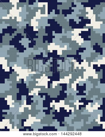 Seamless digital fashion camouflage pattern, vector illustration