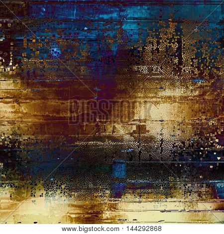 Abstract colorful background or backdrop with grunge texture and different color patterns: blue; purple (violet); yellow (beige); brown; black; pink
