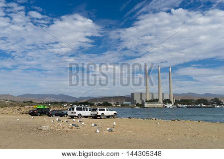 California USA - September 28 2015: Power plant in Morro Bay California