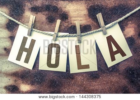 Hola Concept Pinned Stamped Cards On Twine Theme