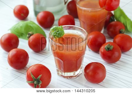Cocktail Bloody Mary In Cold Glasses On A White Background