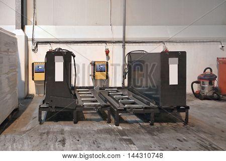 Charging Batteries for Forklift Trucks in Warehouse