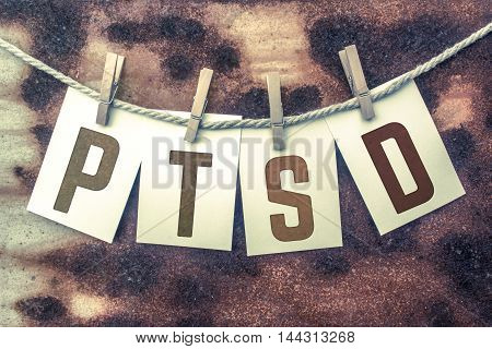 Ptsd Concept Pinned Stamped Cards On Twine Theme