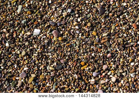 Sea Pebbles Texture, Stone Background