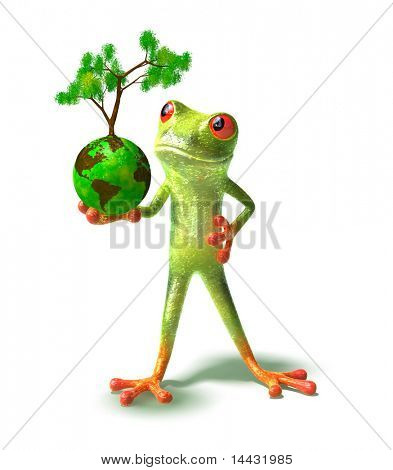 Frog protects the earth