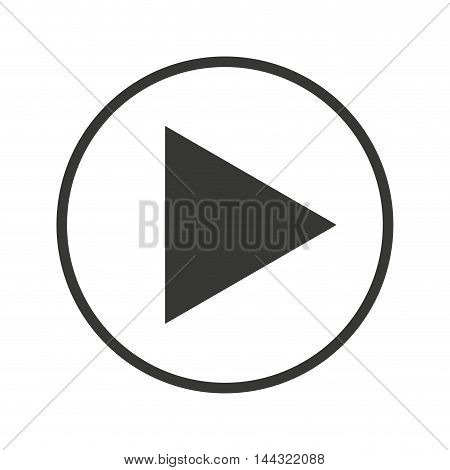 media player button play icon vector illustration design