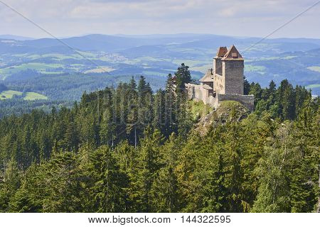 The Kasperk castle in Sumava National Park Czech Republic