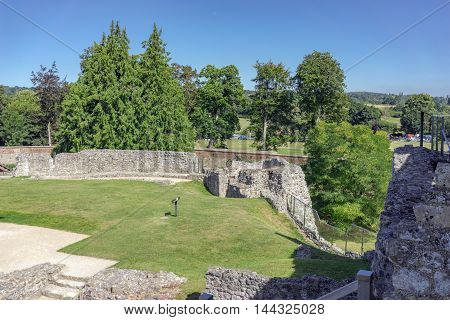 Views from Farnham Castle over Farnham Park in Surrey