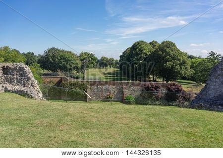 Views from Farnham Castle Keep over Farnham Park in Surrey