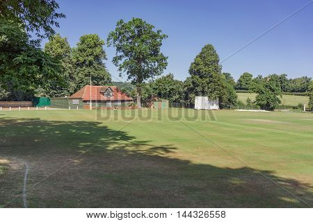 Farnham park and cricket ground in Farnham, Surrey