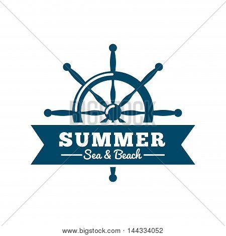frame maritime nautical isolated vector illustration design