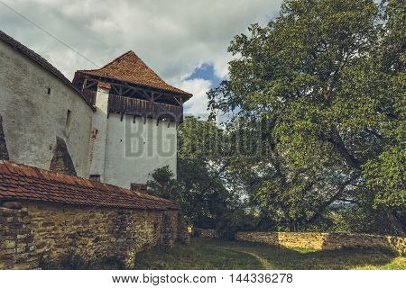 Fortified Church Tower And Defense Walls