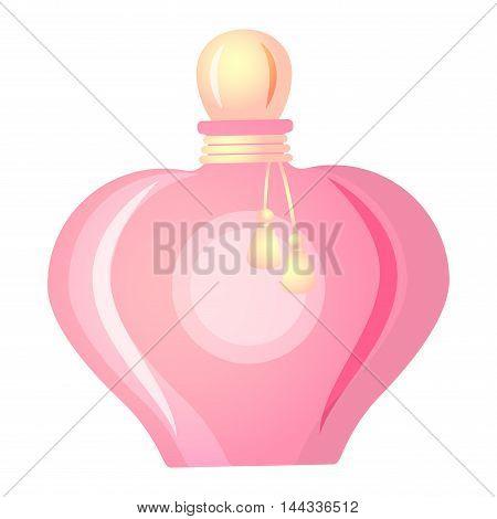 Vector perfume fashion container smell spray. Vector illustration perfume shop symbols elegant merchandise gift. Beauty liquid luxury fragrance aroma perfume bottle aromatherapy.