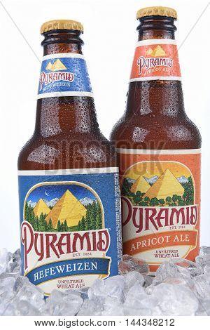 Pyramid Ales In Ice Bucket