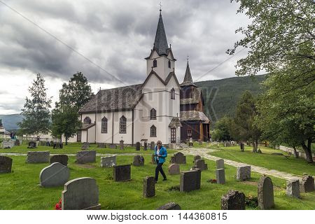 TORPO, NORWAY - JULY 2, 2016: There are