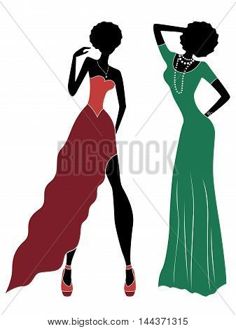 Attractive Ladies In Long Gown