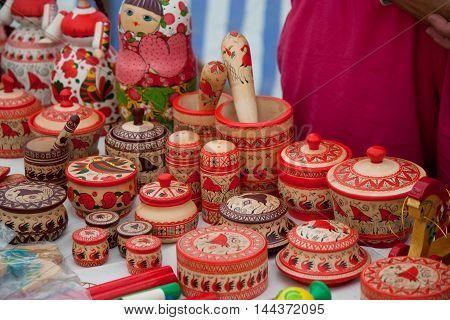 folk decoration, nordic  russian style design poster