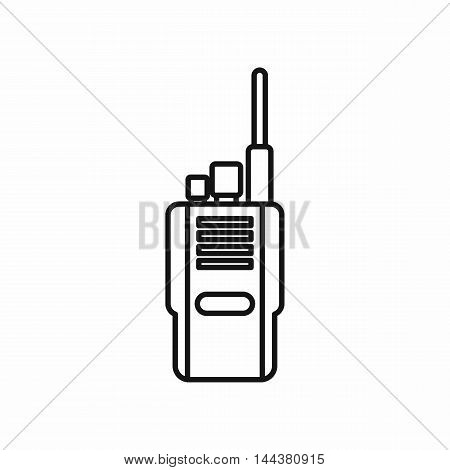Portable radio transceiver icon in outline style on a white background