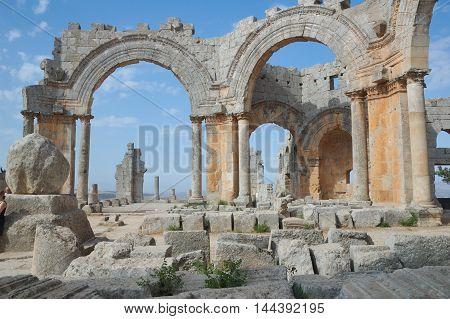 Basilica of St Simeon near Allepo in Syria