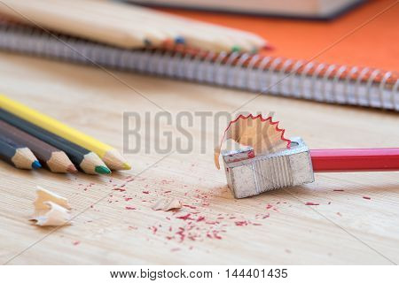Color Art Pencils With Sharpener And Notebook