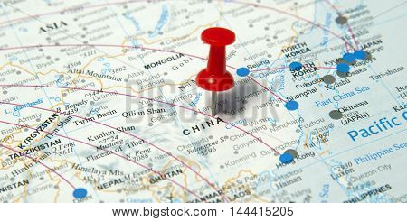This is an image of China map.