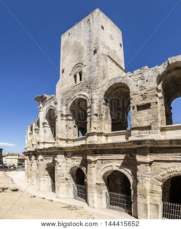 View To Huge Walls  Of Famous Arena In Arles