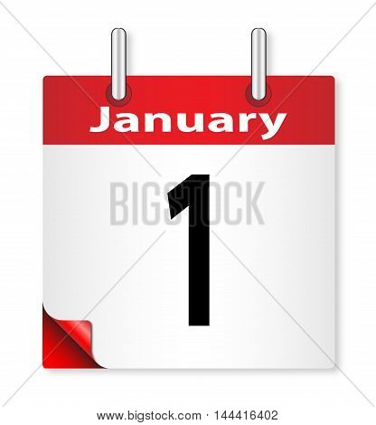 A calender date offering the 1st January