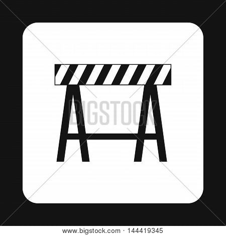 Prohibitory sign icon in simple style isolated on white background. Construction symbol