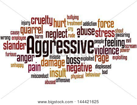 Aggressive, Word Cloud Concept 9