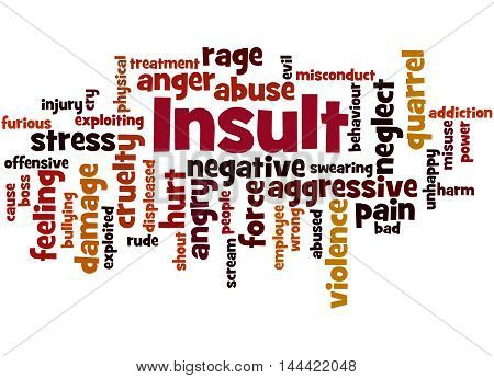 Insult, Word Cloud Concept 9