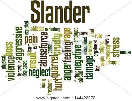 Slander, Word Cloud Concept