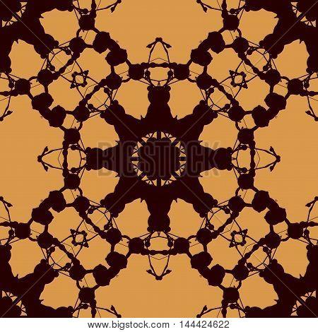Rorschach inkblot test vector design. Abstract seamless pattern. For fabric, wallpaper, print, warping paper.