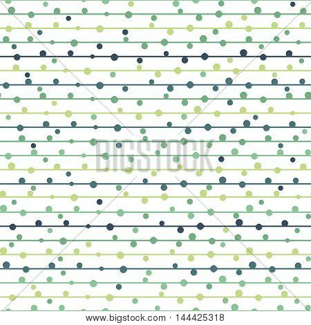 Vector seamless line dot bright pattern. It can be used for kids wallpaper, fabric, background for webpage