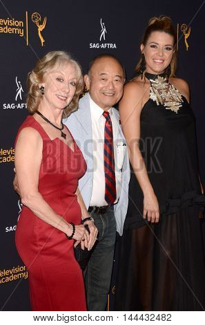 LOS ANGELES - AUG 25:  Ellen Crawford, Clyde Kusatsu, Guest at the 4th Annual Dynamic & Diverse Celebration at the TV Academy Saban Media Center on August 25, 2016 in North Hollywood, CA