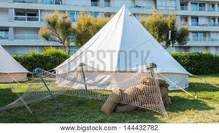 White Tent Soldiers Settled In The City