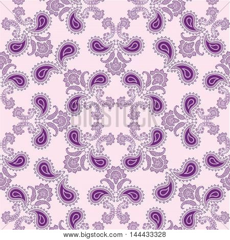 Flourish Tiled Pattern. Abstract Floral Geometric Seamless Orien