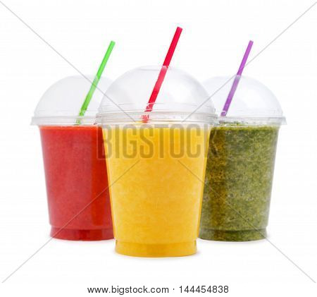 Green, Orange And Red Smoothie