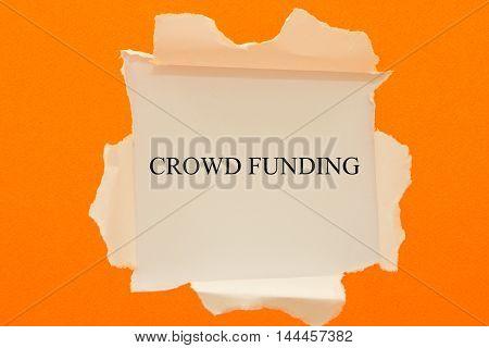 Crowdsourcing word written under torn paper .