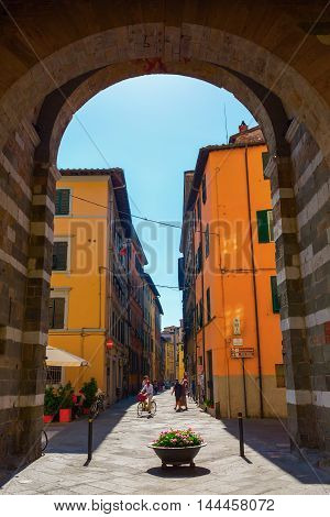 Street View In Lucca, Tuscany, Italy