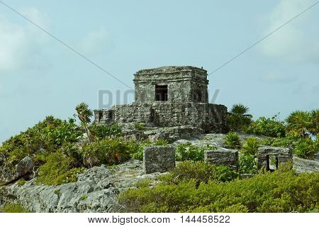 A beautiful view of Tulum in MEXICO.